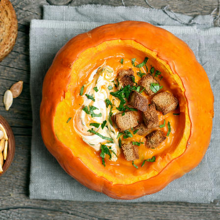 Pumpkin Soup, Stock Photo, Used by Anne Bergeron