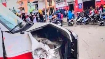 No es del 911 ambulancia accidentada durante simulacro, según el SNS