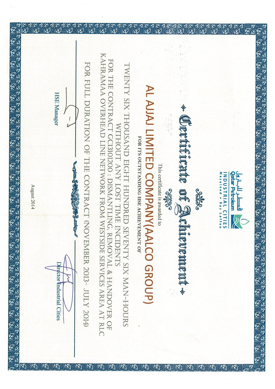 HSE Certificate-QP