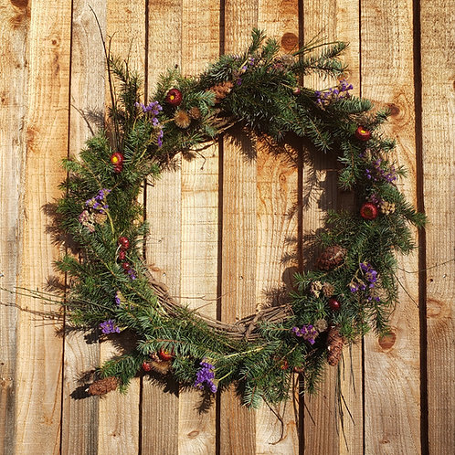 """24"""" wreath - Carol"""