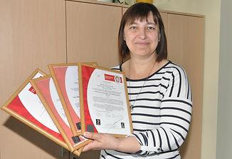 Kokybės vadovė Vilija Petrošienė džiaugiasi, kad šiemet įmonė pelnė net keturis aukščiausio lygi sertifikatus