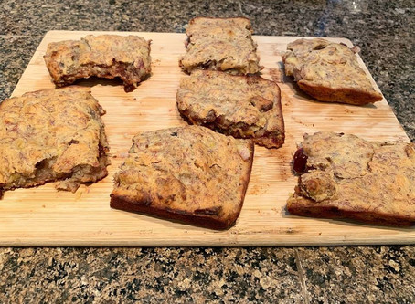 Vegan banana-nut breakfast bars - Recipe