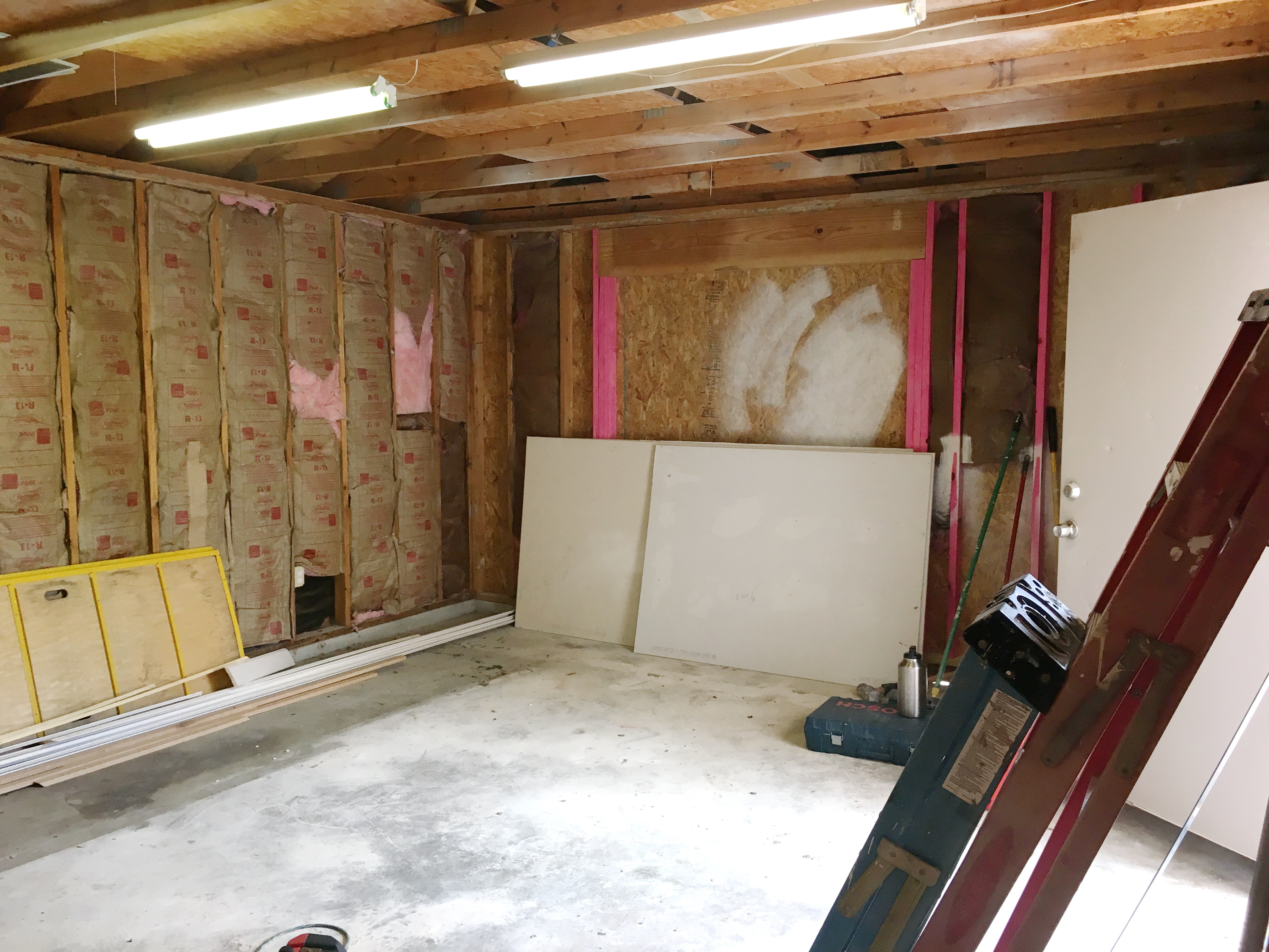 Garage before the remodel