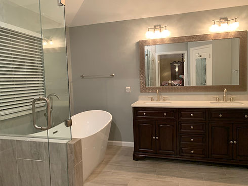 Master Bathroom Renovation. Remolded by Streamline Interior Design
