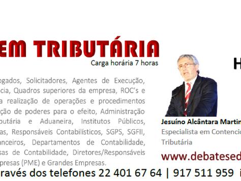 """FORMAÇÃO """"ARBITRAGEM TRIBUTÁRIA"""" 19 DE MAIO - LISBOA"""