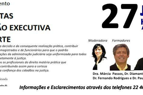 Sessão de Esclarecimento CONTA DE CUSTAS, CONTA NA AÇÃO EXECUTIVA, CUSTAS DE PARTE - PORTO