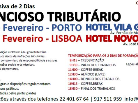 """Formação Intensiva """"Contencioso Tributário"""" Agora no Porto e Novamente em Lisboa"""