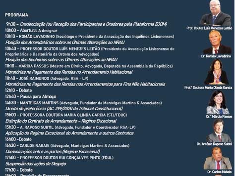 VII Congresso Nacional do NRAU - 6 Novembro 2020
