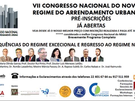 VII CONGRESSO NACIONAL DO NOVO REGIME DO ARRENDAMENTO URBANO