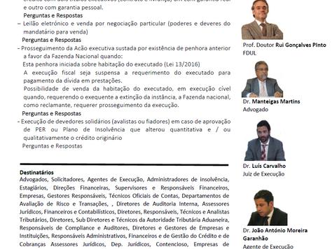 """Sessão de Esclarecimento """"Temas Polémicos na Acção Executiva"""""""