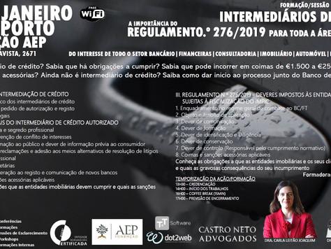 PORTO 24 de Janeiro de 2020 - INTERMEDIÁRIOS DE CRÉDITO e REGULAMENTO 276/2019 OBRIGATÓRIO PARA TODA