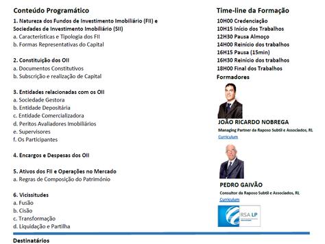 Organismos de Investimento Imobiliário - FUNDOS DE INVESTIMENTO IMOBILIÁRIO E SOCIEDADES DE INVESTIM