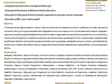 Formação/ Sessão Prática da Ação Executiva Porto e Lisboa