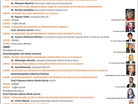 IV Congresso Nacional do Novo Regime do Arrendamento Urbano - 20 Outubro - Lisboa