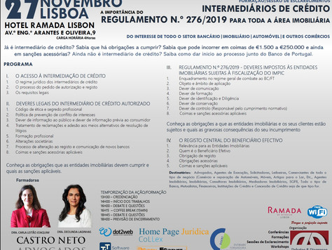 INTERMEDIÁRIOS DE CRÉDITO - A IMPORTÂNCIA DO REGULAMENTO 276/2019 PARA A ÁREA IMOBILIÁRIA - A OBRIGA