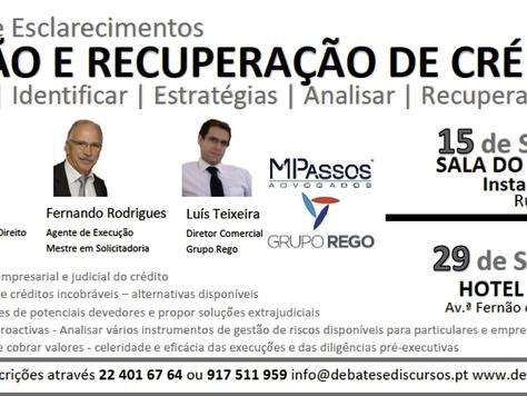 """Sessão de Esclarecimento """"Gestão e Recuperação de Créditos"""" Lisboa e Porto"""