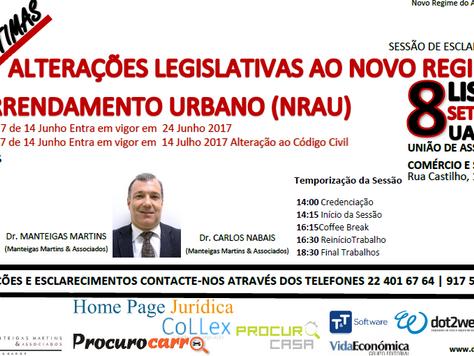 As últimas alterações Legislativas ao Novo Regime do Arrendamento Urbano Lisboa e Faro