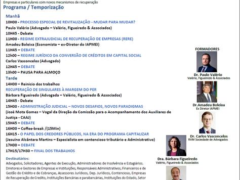 """Direito da Insolvência """"As novas regras para recuperar empresas e particulares""""  PORTO 13"""