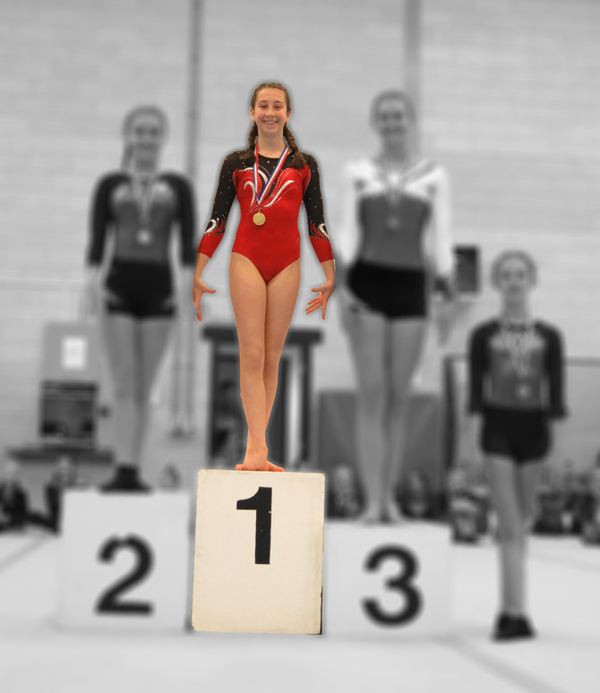 Voorwedstrijd - Junior divisie 4  Fay goud!