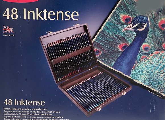 Derwent INKTENSE Wood Box 48 Pencils