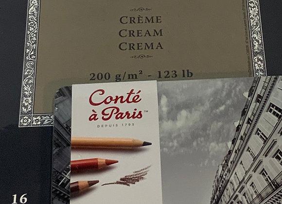 Conte pencil sketch and draw