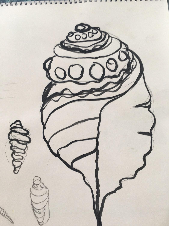 Pen ,Ink.watercolour