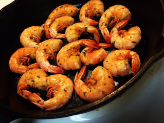Do you always throw away the leftover shrimp?