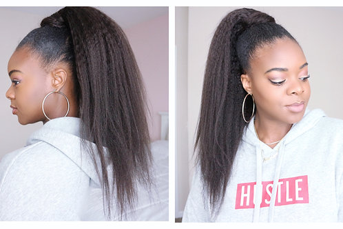 Kinky Straight/Curly Ponytail 20in