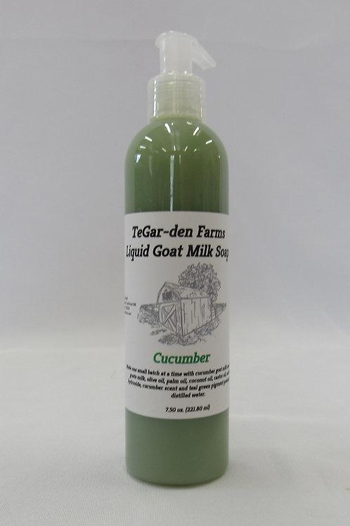 Liquid Goat Milk Soap - Cucumber