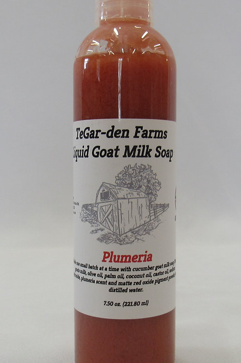 Liquid Goat Milk Soap - Plumeria