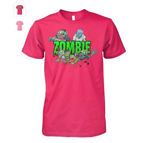 Hot Pink Zombie T-Shirt | Men & Women