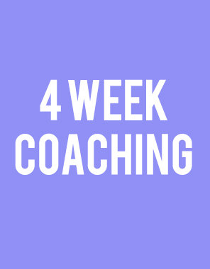 1 Month Coaching Package