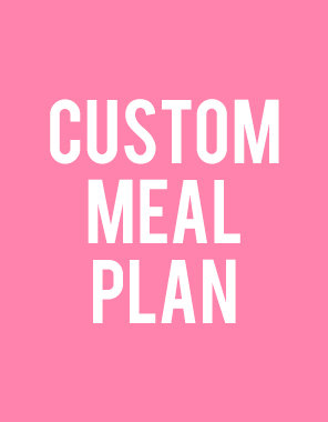 Customized Nutrition Plan - with MEAL PLAN