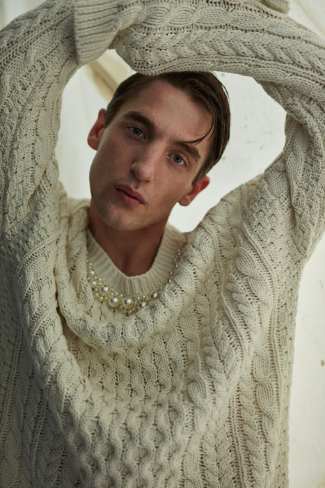 sweater with pearls SIMONE ROCHA x H&M