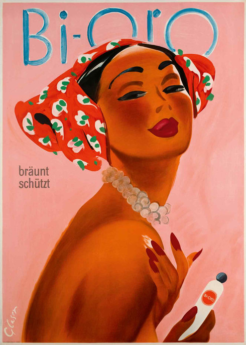 1949 Otto Glaser poster for Bi-Oro sun cream, about £764, from Galerie 123