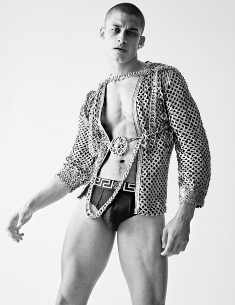 Underwear Versace and jacket  Chain by Sultry affair