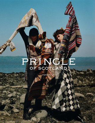 Henry Kitcher Models Pringle of Scotland Fall Winter 2018.19 Collection
