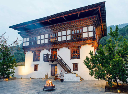 A restored farmhouse is at the heart of Amankora Punakha Lodge in Bhutan
