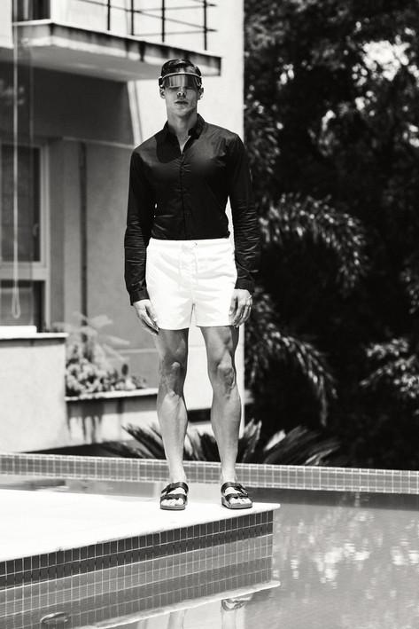Shorts: ZARA T-shirt: ZARA Visor: Dior Sandal: ZARA