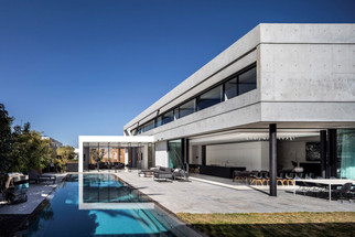 The Modern concrete and glass dwelling in Israel