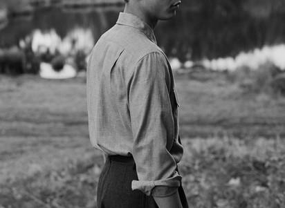 Luke Cousins Models Margaret Howell Fall Winter 2018.19 Collection