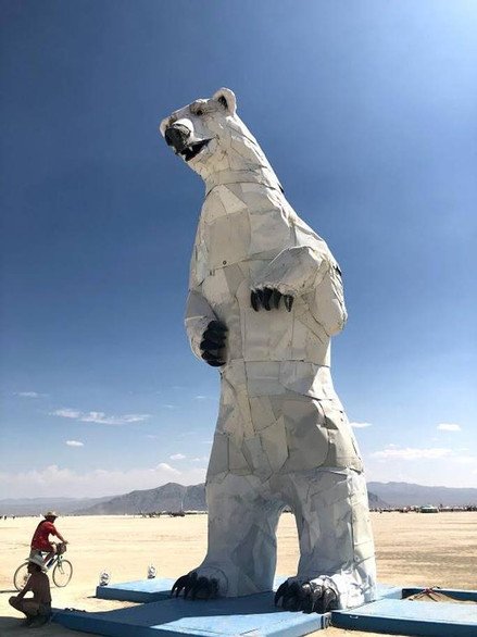 Out of place? Yes, but that's the point. This giant polar bear stood in the middle of the desert. Take a look at the expression, though: the creators say it's looking for allies in the fight against climate change.