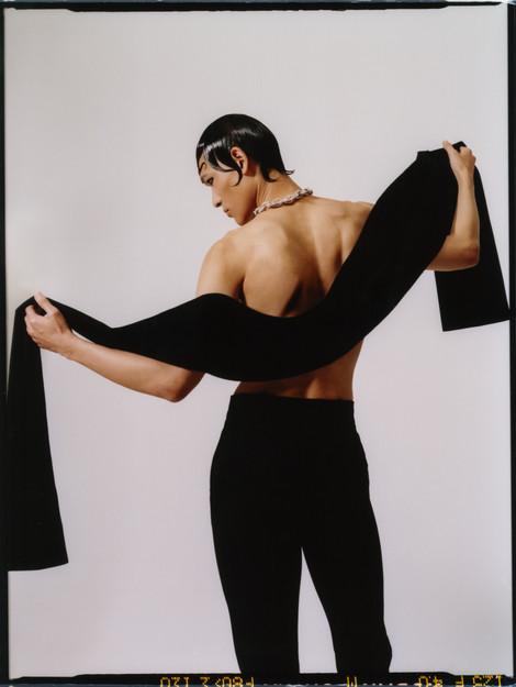 Scarf - Valentino Trousers - Kaushik Velendra Necklace - Butler and Wilson