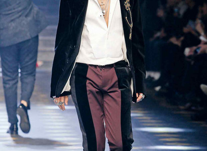 Menswear stages a velvet revolution