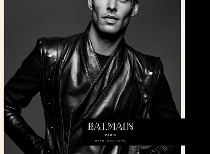 Jon Kortajarena for Balmain Hair Couture's Spring Summer 2017
