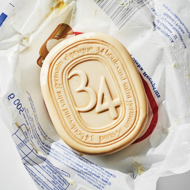 Saint Germain 34th Street Perfumed Soap with a blend of aromas of fabelli, amber and sandalwood.