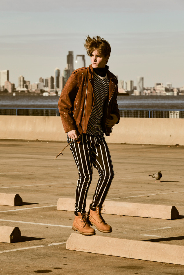 Jacket - Reclaimed Vintage T-Shirt - Sandro Turtleneck - The Couples Pants - Zara Shoes - Timberland