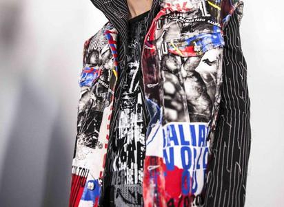 Throwback Backstage : Balmain men Spring-Summer 2019 fashion