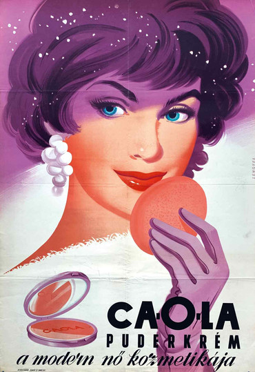 1958 Gyozo Szilas Ovenall Baeder toothpaste poster, $8,000, from Budapest Poster Gallery