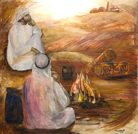 Meditando en el desierto de Jordania
